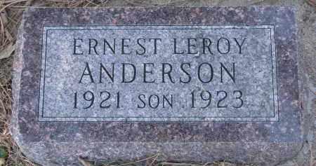 ANDERSON, ERNEST LEROY - Yankton County, South Dakota   ERNEST LEROY ANDERSON - South Dakota Gravestone Photos