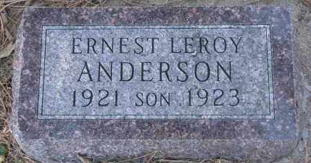 ANDERSON, ERNEST LEROY - Yankton County, South Dakota | ERNEST LEROY ANDERSON - South Dakota Gravestone Photos