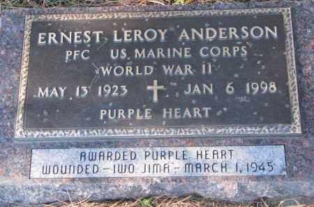 ANDERSON, ERNEST LEROY (WW II) - Yankton County, South Dakota | ERNEST LEROY (WW II) ANDERSON - South Dakota Gravestone Photos