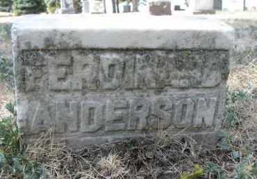 ANDERSON, FERDINAND - Yankton County, South Dakota | FERDINAND ANDERSON - South Dakota Gravestone Photos