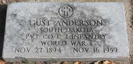 ANDERSON, GUST - Yankton County, South Dakota | GUST ANDERSON - South Dakota Gravestone Photos