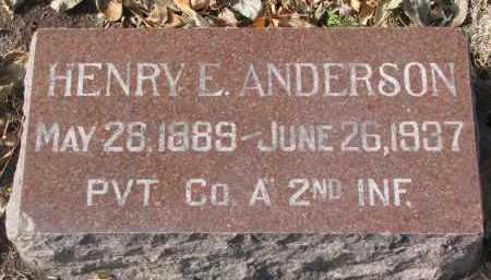 ANDERSON, HENRY E. - Yankton County, South Dakota | HENRY E. ANDERSON - South Dakota Gravestone Photos