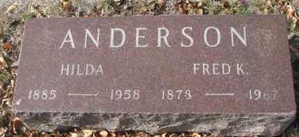 ANDERSON, FRED K. - Yankton County, South Dakota | FRED K. ANDERSON - South Dakota Gravestone Photos