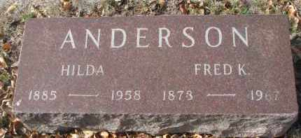 ANDERSON, HILDA - Yankton County, South Dakota | HILDA ANDERSON - South Dakota Gravestone Photos