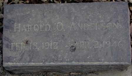ANDERSON, HAROLD O. - Yankton County, South Dakota | HAROLD O. ANDERSON - South Dakota Gravestone Photos