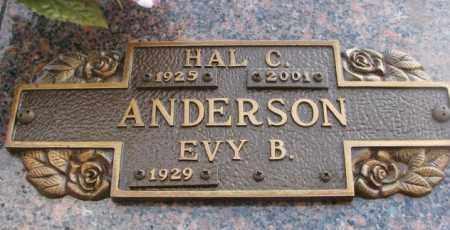 ANDERSON, EVY B. - Yankton County, South Dakota | EVY B. ANDERSON - South Dakota Gravestone Photos