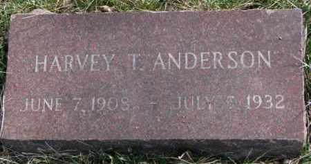 ANDERSON, HARVEY T. - Yankton County, South Dakota | HARVEY T. ANDERSON - South Dakota Gravestone Photos