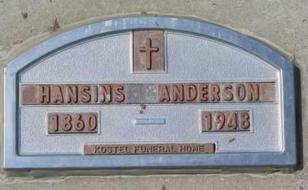 ANDERSON, HANSINS - Yankton County, South Dakota | HANSINS ANDERSON - South Dakota Gravestone Photos