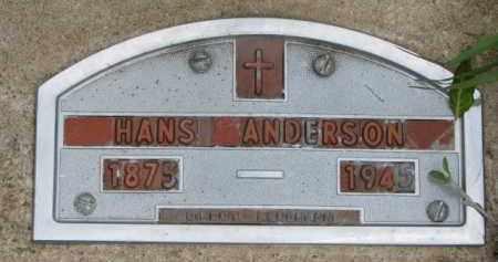 ANDERSON, HANS - Yankton County, South Dakota   HANS ANDERSON - South Dakota Gravestone Photos
