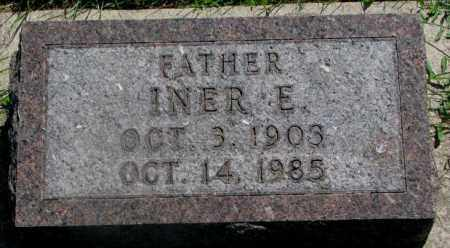 ANDERSON, INER E. - Yankton County, South Dakota | INER E. ANDERSON - South Dakota Gravestone Photos