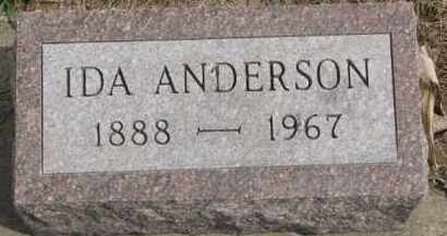 ANDERSON, IDA - Yankton County, South Dakota   IDA ANDERSON - South Dakota Gravestone Photos
