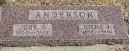 ANDERSON, SELMA I. - Yankton County, South Dakota | SELMA I. ANDERSON - South Dakota Gravestone Photos