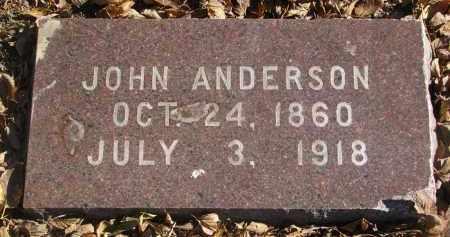 ANDERSON, JOHN - Yankton County, South Dakota | JOHN ANDERSON - South Dakota Gravestone Photos