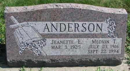 ANDERSON, JEANETTE E. - Yankton County, South Dakota | JEANETTE E. ANDERSON - South Dakota Gravestone Photos