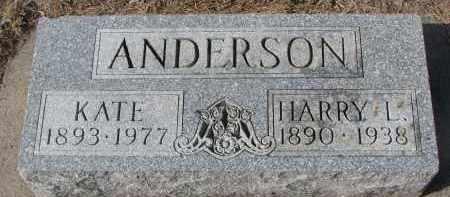 ANDERSON, HARRY L. - Yankton County, South Dakota | HARRY L. ANDERSON - South Dakota Gravestone Photos