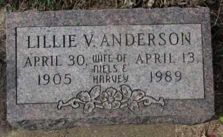 ANDERSON, LILLIE V. - Yankton County, South Dakota | LILLIE V. ANDERSON - South Dakota Gravestone Photos