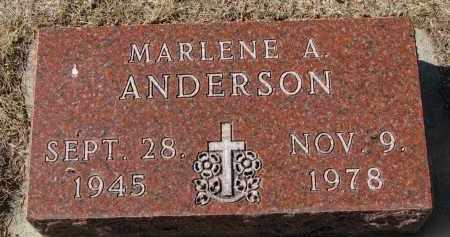 ANDERSON, MARLENE A. - Yankton County, South Dakota | MARLENE A. ANDERSON - South Dakota Gravestone Photos
