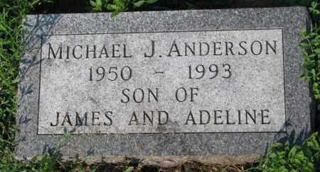 ANDERSON, MICHAEL J. - Yankton County, South Dakota   MICHAEL J. ANDERSON - South Dakota Gravestone Photos