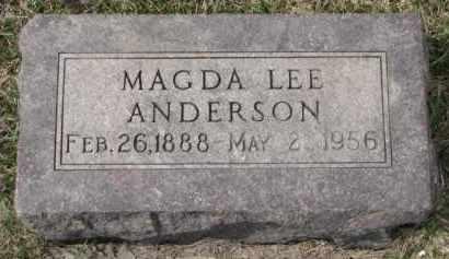 ANDERSON, MAGDA - Yankton County, South Dakota | MAGDA ANDERSON - South Dakota Gravestone Photos