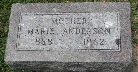ANDERSON, MARIE - Yankton County, South Dakota | MARIE ANDERSON - South Dakota Gravestone Photos