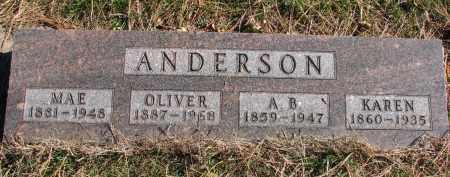 ANDERSON, OLIVER - Yankton County, South Dakota | OLIVER ANDERSON - South Dakota Gravestone Photos