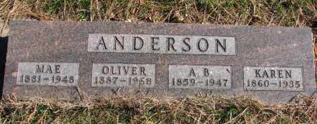 ANDERSON, KAREN - Yankton County, South Dakota | KAREN ANDERSON - South Dakota Gravestone Photos