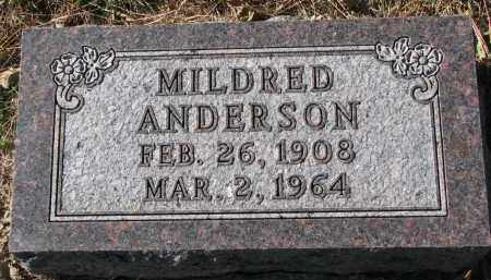 ANDERSON, MILDRED - Yankton County, South Dakota | MILDRED ANDERSON - South Dakota Gravestone Photos