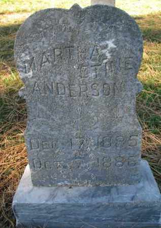 ANDERSON, MARTHA ETINE - Yankton County, South Dakota | MARTHA ETINE ANDERSON - South Dakota Gravestone Photos