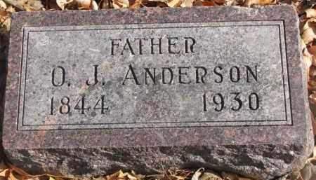 ANDERSON, O.J. - Yankton County, South Dakota   O.J. ANDERSON - South Dakota Gravestone Photos