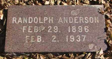 ANDERSON, RANDOLPH - Yankton County, South Dakota | RANDOLPH ANDERSON - South Dakota Gravestone Photos