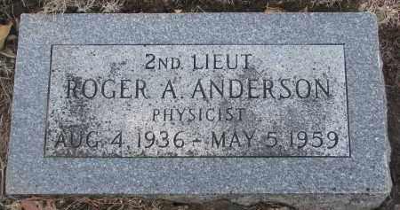 ANDERSON, ROGER A. - Yankton County, South Dakota | ROGER A. ANDERSON - South Dakota Gravestone Photos
