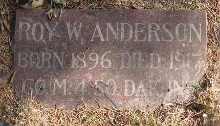 ANDERSON, ROY W. - Yankton County, South Dakota | ROY W. ANDERSON - South Dakota Gravestone Photos