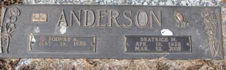 ANDERSON, BEATRICE M. - Yankton County, South Dakota | BEATRICE M. ANDERSON - South Dakota Gravestone Photos