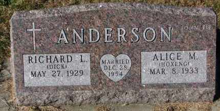 ANDERSON, ALICE M. - Yankton County, South Dakota | ALICE M. ANDERSON - South Dakota Gravestone Photos