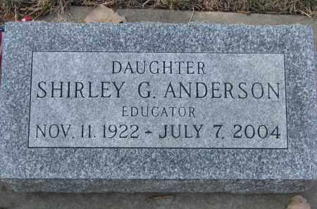 ANDERSON, SHIRLEY G. - Yankton County, South Dakota | SHIRLEY G. ANDERSON - South Dakota Gravestone Photos