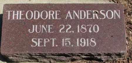 ANDERSON, THEODORE - Yankton County, South Dakota   THEODORE ANDERSON - South Dakota Gravestone Photos