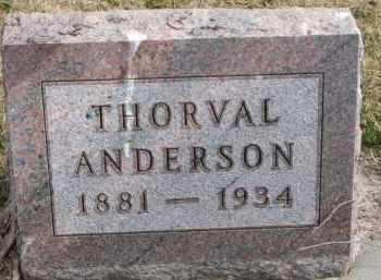 ANDERSON, THORVAL - Yankton County, South Dakota   THORVAL ANDERSON - South Dakota Gravestone Photos