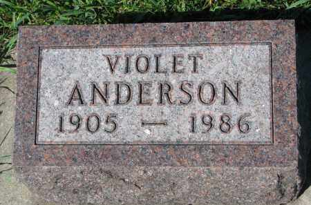ANDERSON, VIOLET - Yankton County, South Dakota | VIOLET ANDERSON - South Dakota Gravestone Photos