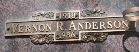 ANDERSON, VERNON R. - Yankton County, South Dakota | VERNON R. ANDERSON - South Dakota Gravestone Photos