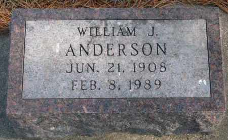 ANDERSON, WILLIAM J. - Yankton County, South Dakota | WILLIAM J. ANDERSON - South Dakota Gravestone Photos