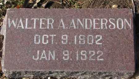 ANDERSON, WALTER A. - Yankton County, South Dakota | WALTER A. ANDERSON - South Dakota Gravestone Photos