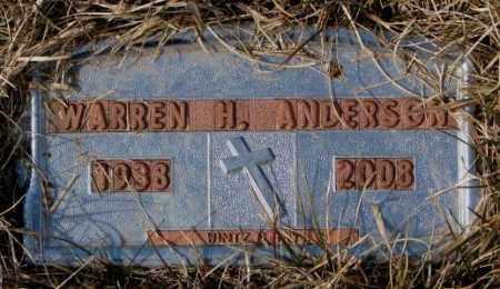 ANDERSON, WARREN H. - Yankton County, South Dakota | WARREN H. ANDERSON - South Dakota Gravestone Photos