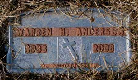 ANDERSON, WARREN H. - Yankton County, South Dakota   WARREN H. ANDERSON - South Dakota Gravestone Photos
