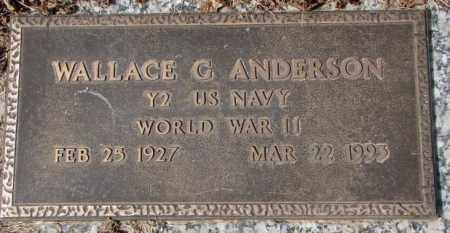 ANDERSON, WALLACE G. (WW II) - Yankton County, South Dakota | WALLACE G. (WW II) ANDERSON - South Dakota Gravestone Photos