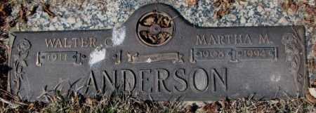 ANDERSON, MARTHA M. - Yankton County, South Dakota | MARTHA M. ANDERSON - South Dakota Gravestone Photos