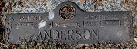 ANDERSON, WALTER O. - Yankton County, South Dakota | WALTER O. ANDERSON - South Dakota Gravestone Photos