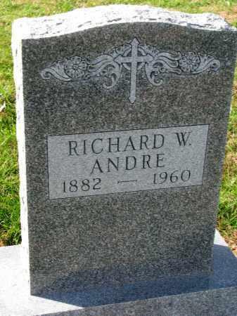 ANDRE, RICHARD W. - Yankton County, South Dakota | RICHARD W. ANDRE - South Dakota Gravestone Photos