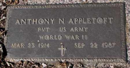 APPLETOFT, ANTHONY N. - Yankton County, South Dakota | ANTHONY N. APPLETOFT - South Dakota Gravestone Photos