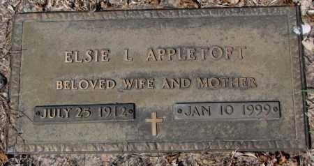 APPLETOFT, ELSIE L. - Yankton County, South Dakota | ELSIE L. APPLETOFT - South Dakota Gravestone Photos
