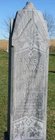 ARNS, ANNE - Yankton County, South Dakota | ANNE ARNS - South Dakota Gravestone Photos